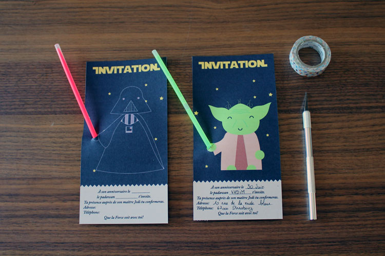 L'anniversaire Star Wars : l'invitation - minisushi